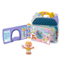 Fisher Price Little People Babies Story Book Play Set igralna knjigica v angleščini do starosti 5 let, FPLPTOY05