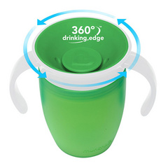 MUNCHKIN  Miracle 360 Trainer Cup Green skodelica 207ml MKNFED42-GRN
