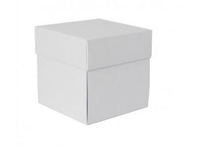 SCRAPEK Eksploding Box 10x10x10cm, 300gr Bela -12606