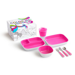 MUNCHKIN Color Me  jedilni set Pink 7Pc, MKNSET01-PNK