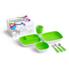 MUNCHKIN Color Me jedilni set Green 7Pc, MKNSET01-GRN