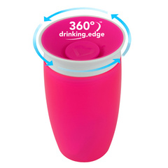 MUNCHKIN Miracle 360 Sippy Cup Pink 296ml, skodelica MKNFED43-PNK