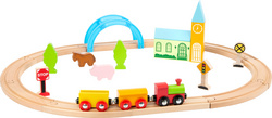 LEGLER leseni VLAK City and Countryside Wooden Toy Train 11490