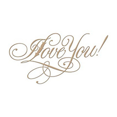 Spellbinders Copperplate Script I Love You , za vročo folijo GLP-016