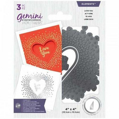 Gemini Foil Stamp 'N' Cut Elements Love You 2v1šablona , GEM-FSC-ELE-LYO