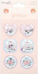 Dovecraft Paper Posies Shaker Stickers DCSTK090
