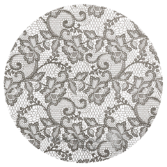 MARGOT LACE CHARCOAL GREY, Papir siv kot čipka 13902